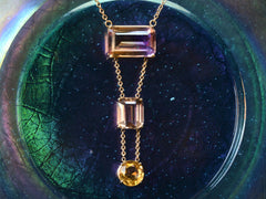 1980s Ametrine Necklace