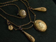 c1900 Anchor Swag Necklace
