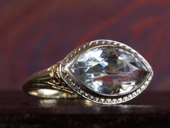 1930s Aquamarine Marquise Ring