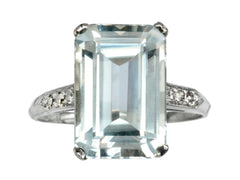 1930s Art Deco Aquamarine Ring