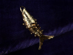 Vintage Gold Articulated Fish Charm