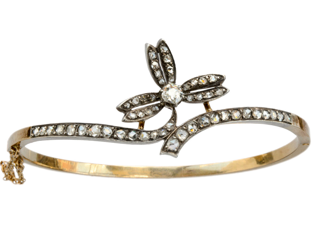c1900 Art Nouveau Diamond Bracelet