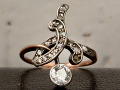 1890s Art Nouveau Diamond Ring