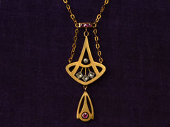 1900s Art Nouveau Ruby Necklace