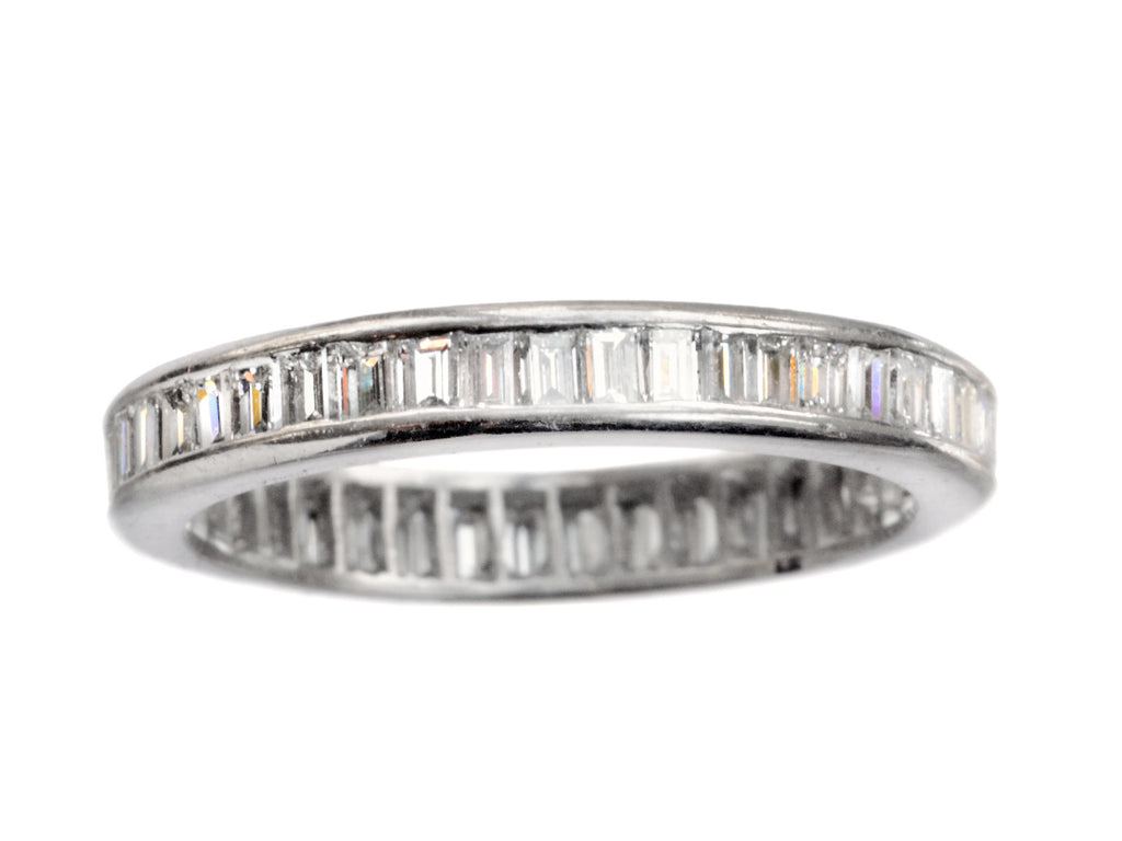 1960s Baguette Diamond Eternity Band