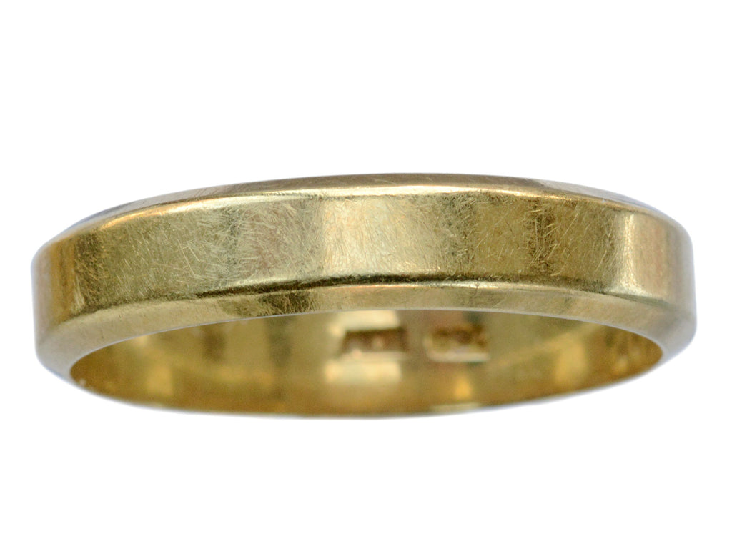 1960s Beveled 18K Gold Band