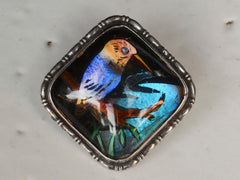 1920s Kingfisher Butterfly Wing Pin