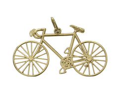 1980s Gold Bicycle Charm