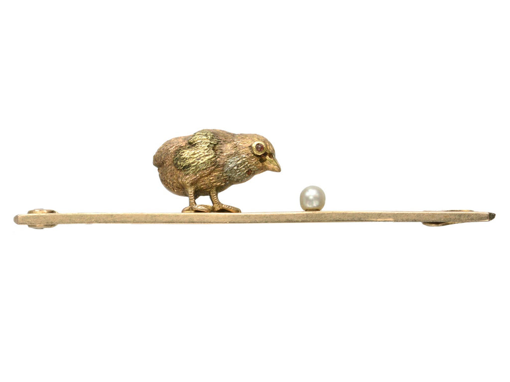 1890s Partridge Egg Brooch