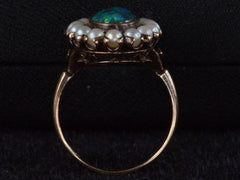 1910s Black Opal & Pearl Ring