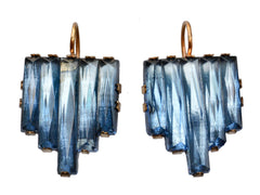 1920s Blue Deco Earrings