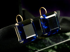 c1940 Large Cobalt Earrings