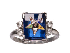 1930-40s Eastern Star Ring