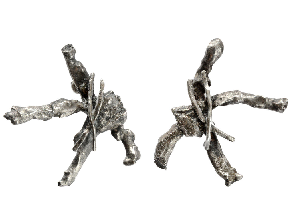 1960s Large Brutalist Earrings