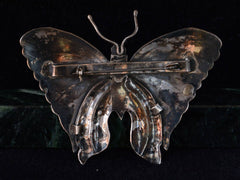 1970s Large Butterfly Brooch