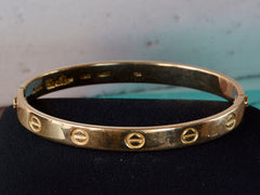 1970s French Cartier Love Bracelet