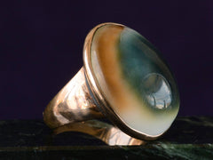 c1840 Cat's Eye Operculum Ring