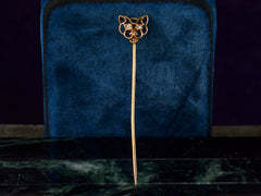 c1900 Diamond Panther Stick Pin