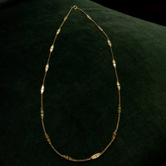 1940s Filigree Link Gold Chain