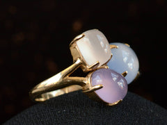 1990s Purple Chalcedony Ring