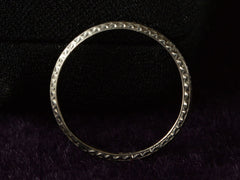 1940s Chinese Deco Platinum Band