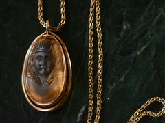 1880s Egyptian Revival Pharaoh Pendant