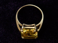 1940s Yellow Crystal Ring