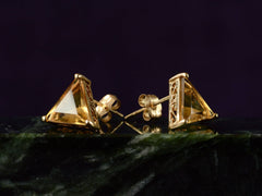 1980s Triangular Citrine Studs