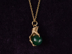 1970s Jade Bird Claw Necklace
