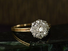 c1910 Edwardian Diamond Cluster Ring