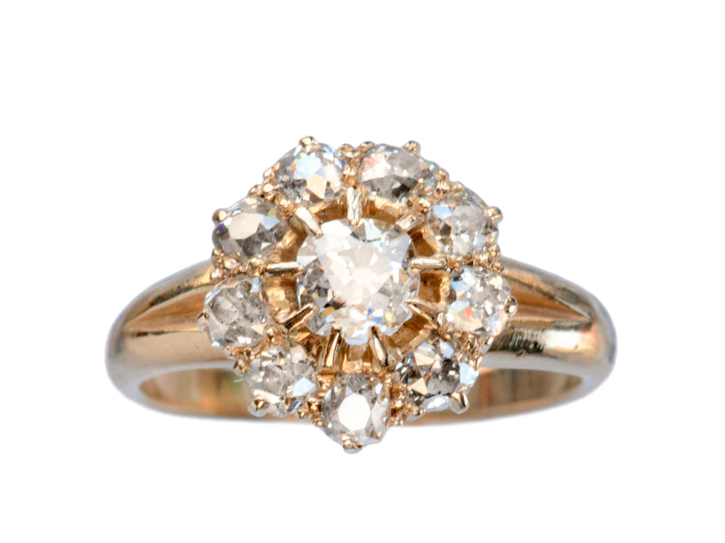 1880s Diamond Cluster Ring