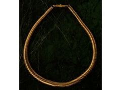 1880s Etruscan Revival Gaspipe Necklace