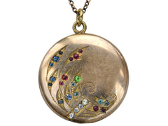 1900s Colorful Art Nouveau Locket