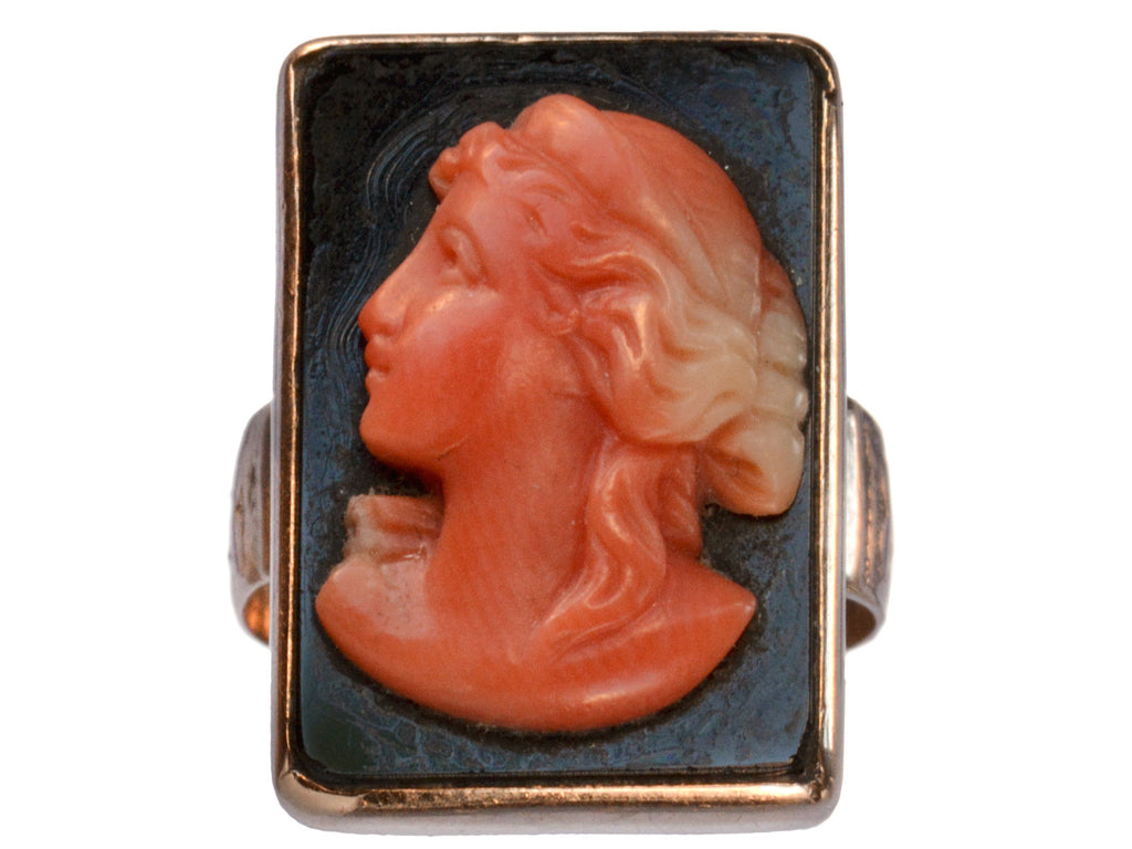 1890s Victorian Coral Cameo Ring