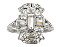 1920s Deco Cocktail Ring