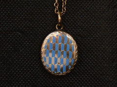 1890s Geometric Enamel Locket