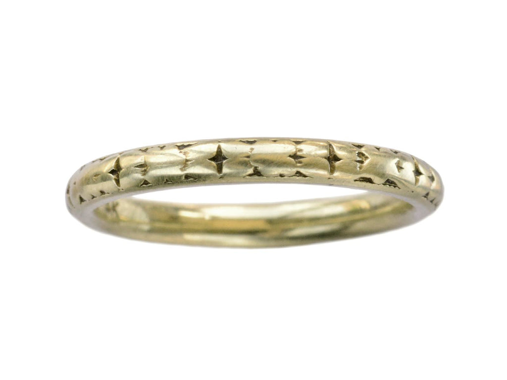 1930s Decorated Yellow Gold Band