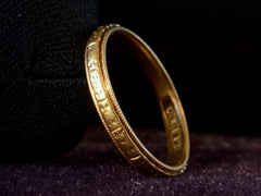 1919 Decorated 18K Band
