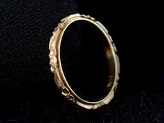 1940s Decorated Gold Band