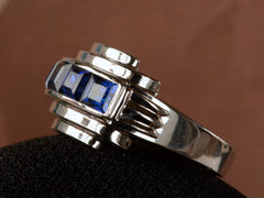 1930-40s Deco Sapphire Ring