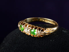 1910 Demantoid & Diamond Ring
