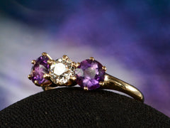 1900s Amethyst & Diamond Ring