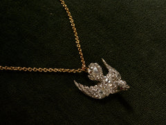c1890 Diamond Bird Pendant