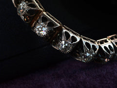 c1850 Old Mine Cut Diamond Bracelet