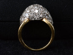 1970s Domed Diamond Ring