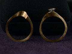 1980s Enamel & Diamond Wedding Set