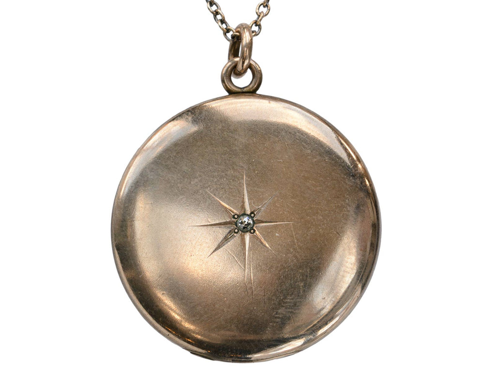 c1900 Round Diamond Locket