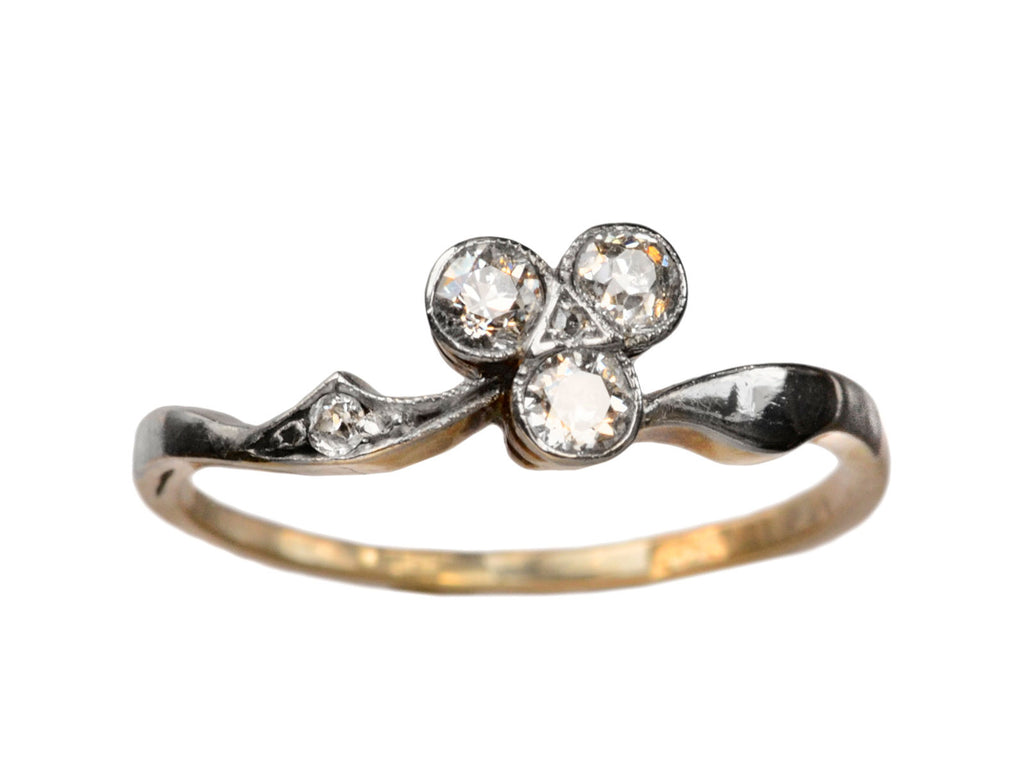 1900s Diamond Clover Ring