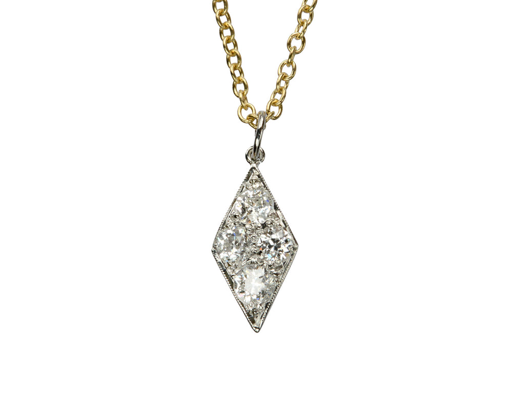 1920s Diamond Pendant Necklace