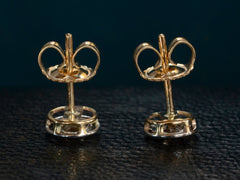 1900s Diamond Stud Earrings